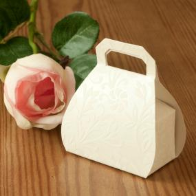 Ivory Diamante Handbag Favour Box