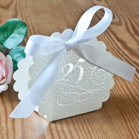 25th Silver Wedding Anniversary Favour Box