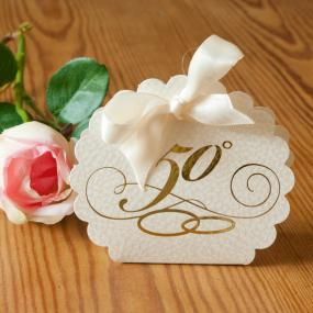 50th Golden Wedding Anniversary Favour Box