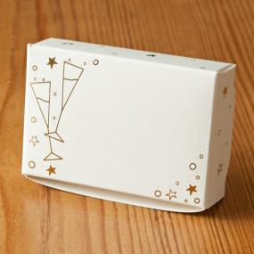 Ivory and Gold Glasses Cake Boxes x 8