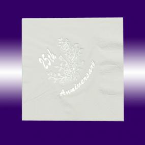 25th Silver Wedding Anniversary Luncheon Napkins