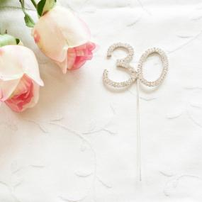 30th Birthday Diamante Cake Decoration