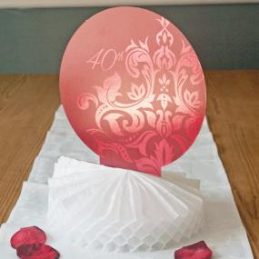 40th Ruby Wedding Anniversary Centrepiece