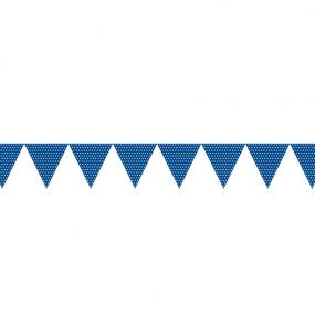 Blue Paper Bunting