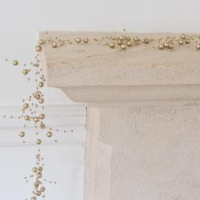 Gold Pearl Garland - 2 metres