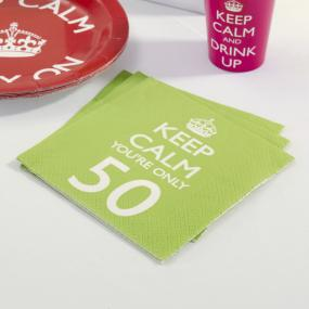 Keep Calm 50th Birthday Napkins
