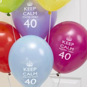 40th Birthday Keep Calm Balloons