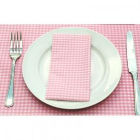 Pale Pink Gingham Buffet Napkins
