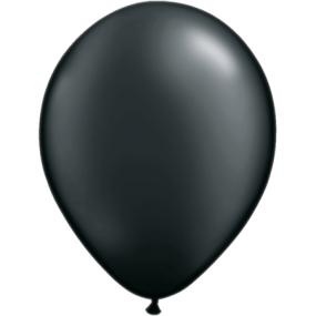 Pearl Black Latex Balloons x 6