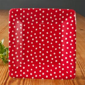 Red Dots Christmas Paper Side Plates by Caspari