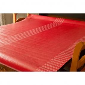 Red Stripe Laminated Paper Banquet Roll