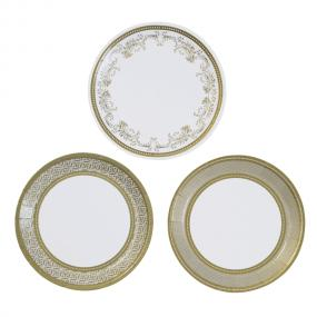 Gold Canape Plates - Party Porcelain