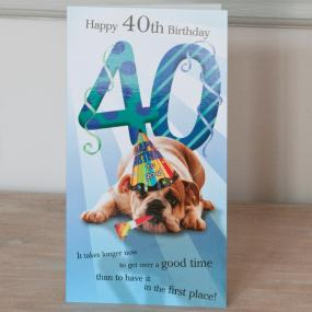 40th Birthday Card - Dog Design