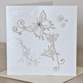 Butterfly Design Wedding Card