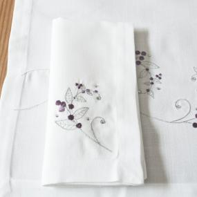 Silver and Purple Christmas Napkins x 4 - Sparkle Berry