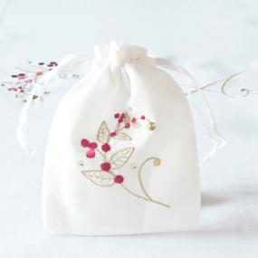 Red and Gold Christmas Gift Bag - Sparkle Berry