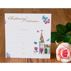 Christening Invitations - Church x 8