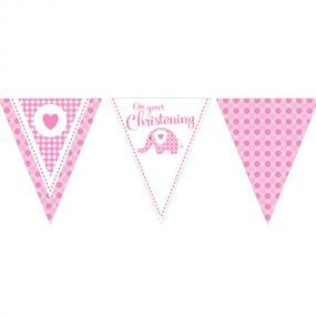 Christening Bunting - Pink