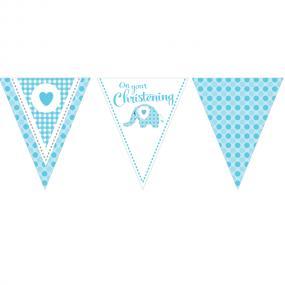 Christening Bunting - Blue
