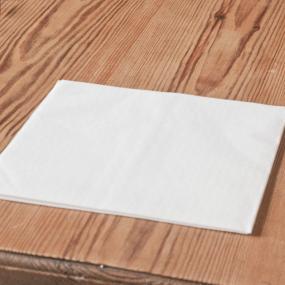 Plain White Linen Feel Dinner Napkins