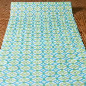 Blue Green Circles Paper Table Runner