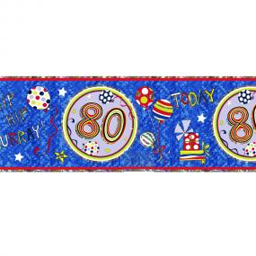 80th Birthday Banner - Rachel Ellen Designs
