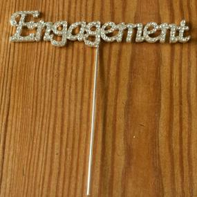 Diamante Engagement Cake Decoration