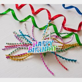 21st Birthday Ribbon Spray Cake Decoration