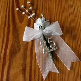 25th Silver Wedding Anniversary Cake Spray
