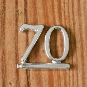 Silver 70 - 70th Birthday Cake Decoration