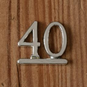 Silver 40 - 40th Birthday Cake Decoration