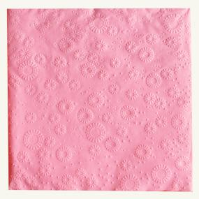 Rose Pink Paper Dinner Napkins - Moments