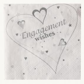 2 Ply Engagement Luncheon Napkins - Hearts