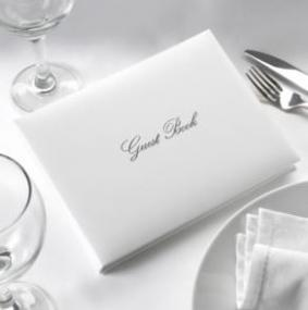 Guest Book - White and Silver