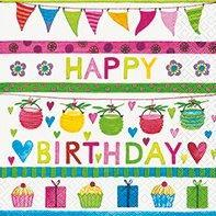 Party Design Happy Birthday Napkins - Luncheon Size