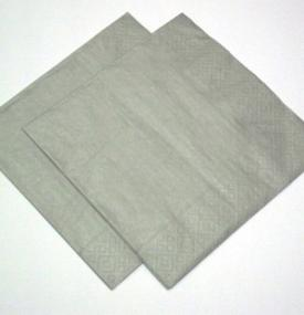 Silver Dinner Size Napkins