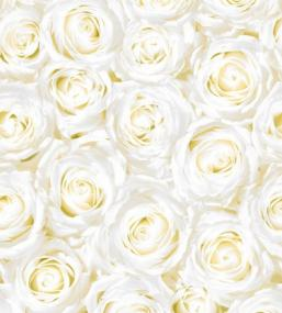 White Roses Paper Table Runner