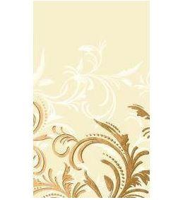 Gold and Cream Scroll Celebration Linen Feel Tablecloth