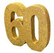60th Anniversary Gold Table Decoration