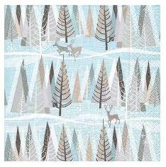 Winter Forest Paper Lunch Napkins