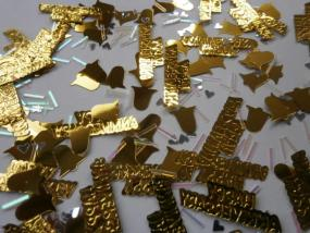 50th Golden Wedding Anniversary Mixed Table Confetti