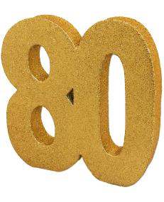 80th Birthday Gold Table Decoration