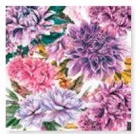 Dahlias Design Luncheon Napkins