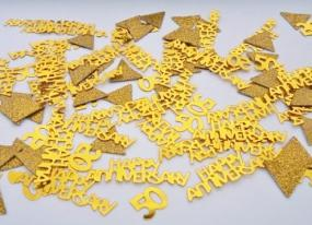 50th Golden Wedding Anniversary Table Confetti