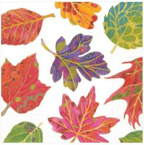 Autumn Leaves Luncheon Napkins
