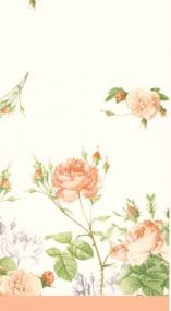Rose Garden Celebration Linen Feel Tablecloth