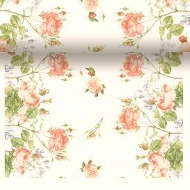 Rose Garden Scroll Paper Table Runner