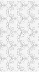 White and Silver Paper Tablecloth