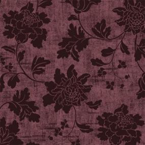 Plum Floral Design Linen Feel Dinner Napkins