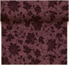Plum Floral Design Paper Table Runner